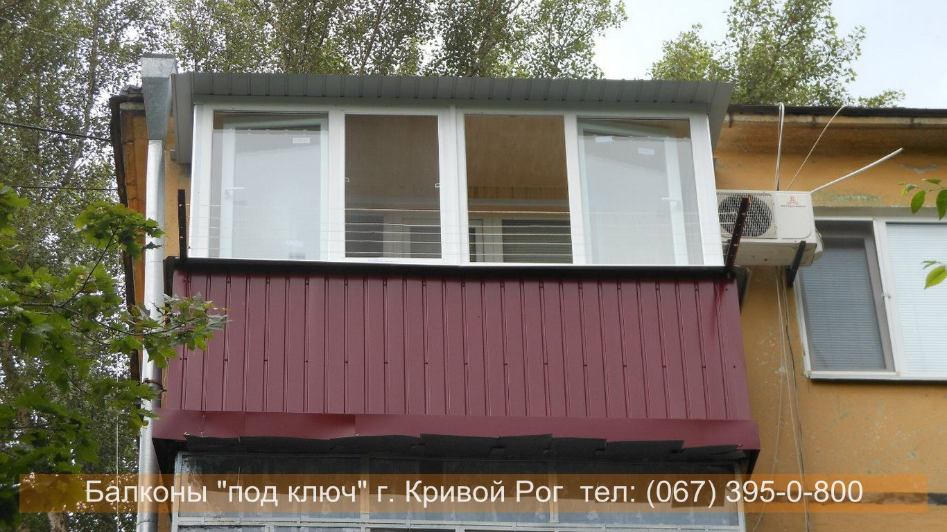 Обшивка балконов профнастилом своими руками.