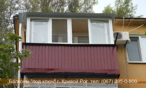 Наружная обшивка балкона профнастилом Кривой Рог