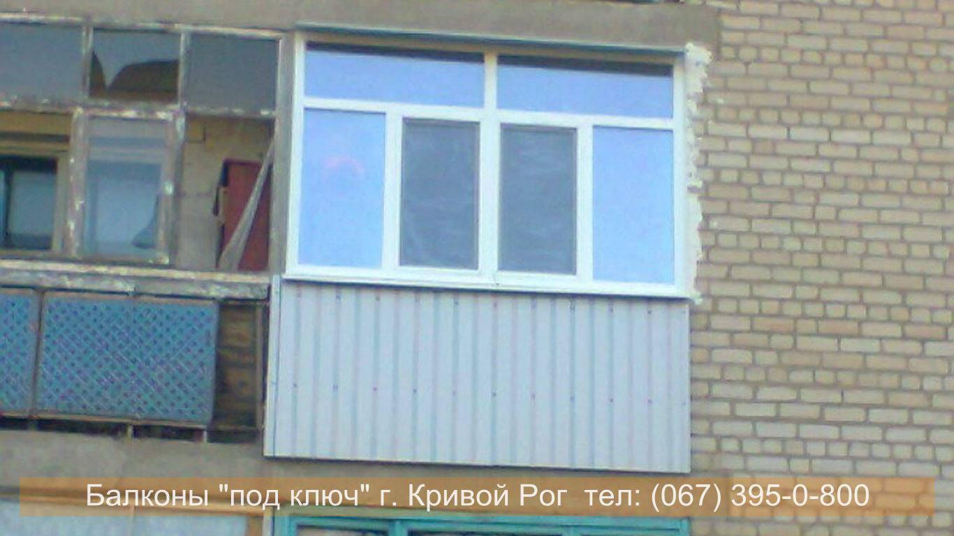 Наружная обшивка балкона профнастилом кривой рог балконы кри.