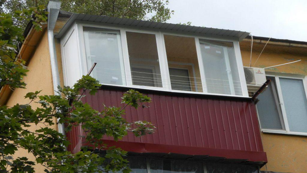 Обшивка балкона своими руками профлист.