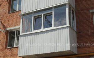 Балконы Кривой Рог с остеклением и обшивкой