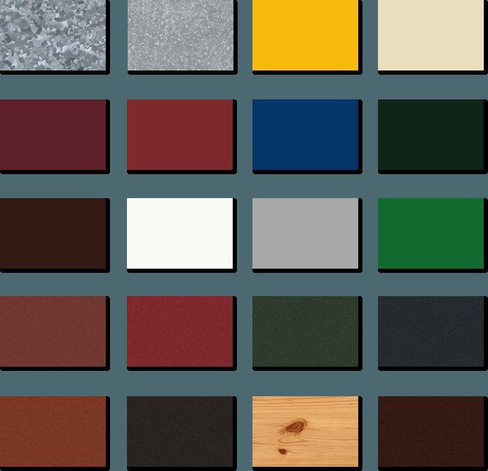 Цветовая палитра обшивки балконов Кривой Рог