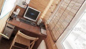 Окна на балкон, обшивка, шторы, мебель на балкон